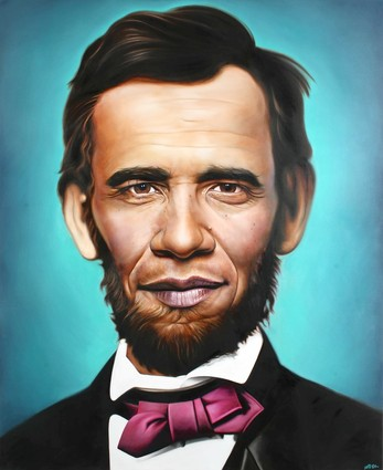 street art ron english abraham obama