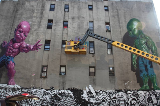 bowery wall street art ron english matthew namour